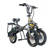 ABYYLH Bicicleta Electrica Plegable Paseo Fat E-Bike Unisex Triciclo Portátil