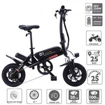 Altruism Bicicleta eléctrica Plegable de 250 W, 36 V, con Motor y Frenos de Disco