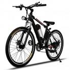 AMDirect Bicicleta de Montaña Eléctrica de 26 Pulgadas E-Bike con Batería de Litio Desmontable 250W