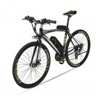 BNMZX Bicicleta eléctrica, Bicicleta de Carretera Masculina/Femenina gris