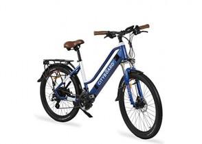 Cityboard E- City Bicicleta Eléctrica, Unisex Adulto Azul