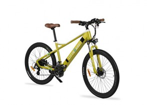 Cityboard E- Tui Bicicleta Eléctrica, Unisex Adulto, Negro/Azul, 27.5 Pulgadas amarilla