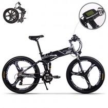 eBike_RICHBIT RLH-860 bicicleta eléctrica bicicleta de montaña plegable MTB negra
