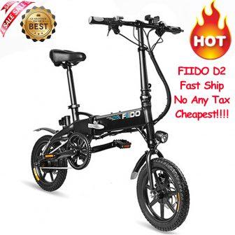 Entrega rápida FIIDO D2 bicicleta eléctrica inteligente plegable bicicleta eléctrica ciclomotor bicicleta...