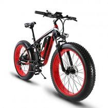 Bicicleta eléctrica (26 cm) con marco de aleación de aluminio roja