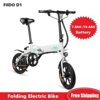 FIIDO D1 Mini bicicleta eléctrica de aleación de aluminio bicicleta eléctrica plegable...
