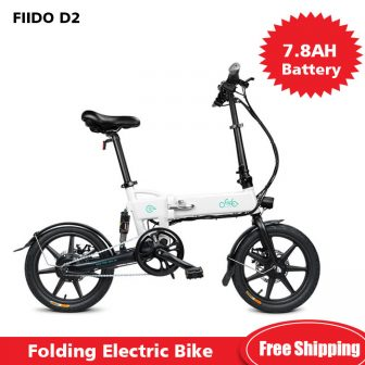 FIIDO D2 Smart 7.8AH batería plegable bicicleta eléctrica ciclomotor doble disco frenos...