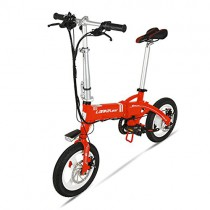 GTYW, Eléctrico, Plegable, Bicicleta, Montaña, Bicicleta, Ciclomotor Adulto roja