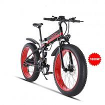 GUNAI Bicicleta de Montaña Eléctrica 26 Pulgadas E-Bike Sistema de Transmisión de 21 Velocidades