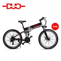 GUNAI Bicicleta Electrica 48V 500W Bicicleta de Montaña 21 Velocidades 26 Pulgadas