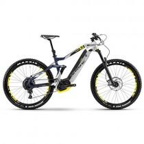 Haibike Xduro 7.0 – Bicicleta de montaña eléctrica de 500 Wh, en plateado, azul y amarillo mate