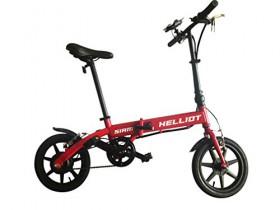 HE-Bikes Helliot Bicicleta de Paseo eléctrica, Unisex Adulto, Rojo, M