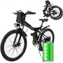 Laiozyen Bicicleta Eléctrica Plegable 250W Unisex Adulto Bicicleta eléctrica