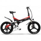 LANKELEISI G650 Bicicleta eléctrica Plegable de 20 Pulgadas 400W