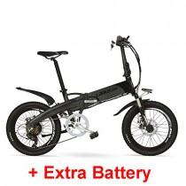 LANKELEISI G660 48V 10Ah Hidden Battery 20″ Bicicleta de montaña eléctrica Plegable gris