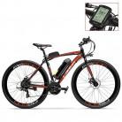 LANKELEISI RS600 700C Asistente de Pedal Ebike, batería 36V 20Ah, Motor 300W naranja