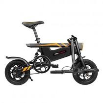 LHLCG Bicicleta eléctrica Plegable – Mini portátil Fácil de almacenar Batería de Litio 36V8Ah