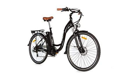 Moma Bikes Bicicleta Electrica, Urbana EBIKE-28 «, Alu. SHIMANO 7V