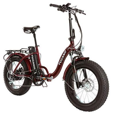 Monster 20″ LOW-e-e – eBike Plegable – Suspensión Delantera – Motor 500W roja