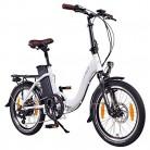 NCM Paris (+) Bicicleta eléctrica Plegable, 250W, Batteria 36V 15Ah/19Ah blanca