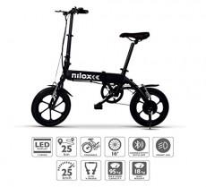 Nilox ebike X2 Plus Plegable Ruedas 16″; Adulto, Unisex, Eléctrica, Negro