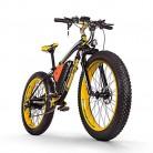RICH BIT Bicicleta eléctrica para hombres E-bike Fat Snow Bike 1000W-48V-17Ah yellow