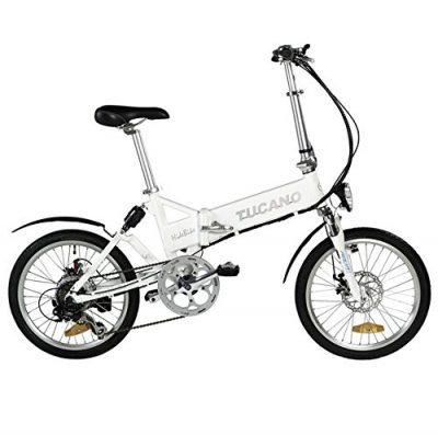Tucano Hide Sport Bicicleta Eléctrica, Unisex Adulto, Blanco, 20″