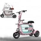 WLY Bicicleta eléctrica Plegable de Tres Ruedas para Adultos Mayores rosa