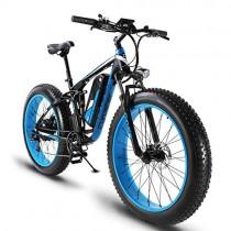 ZDDOZXC XF800 26 pulgadas neumático gordo Bicicleta eléctrica 1000W cruiser